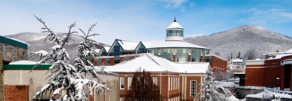 Snowy Campus Scenery