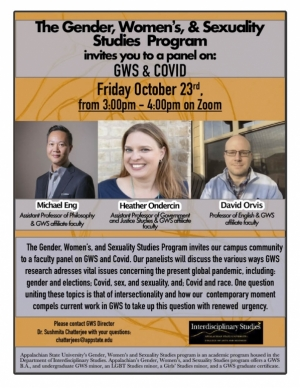 Poster for GWS & COVID Panel Event