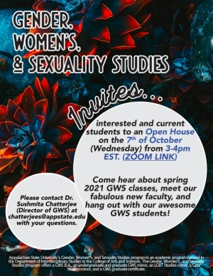 Fall 2020 open house poster