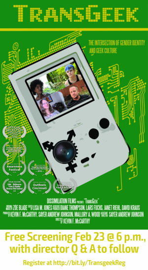 Poster for TransGeek screening event